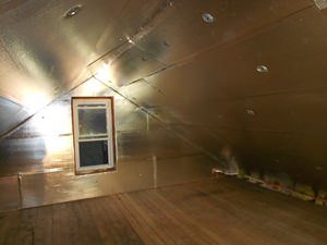 A Mount Pleasant attic with SuperAttic installed.